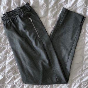 H&M Gray Tapered Zip Pocket Pants